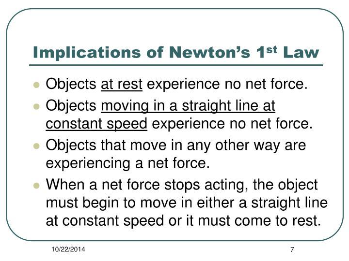 Implications of Newton's 1