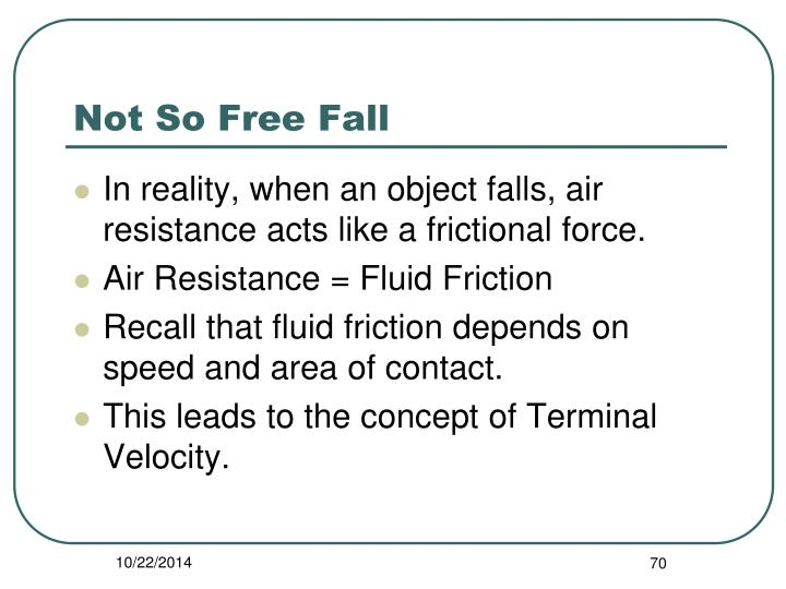 Not So Free Fall
