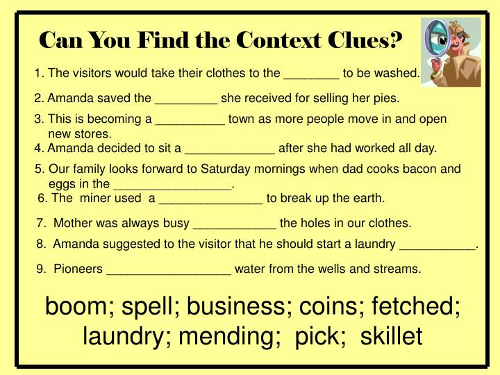 Can You Find the Context Clues?