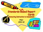 standards based report cards connecting instruction to assessment
