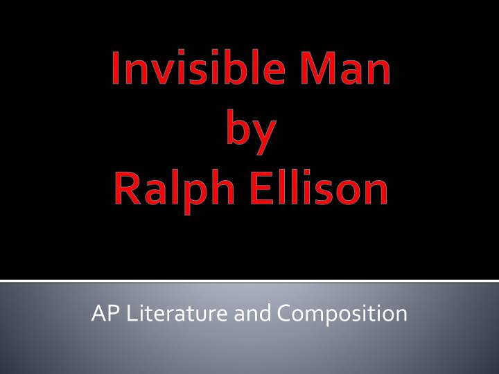 literary devices in invisible man by ralph ellison Learn invisible man ralph ellison with free interactive flashcards  terms for invisible man by ralph ellison  literary and rhetorical device that is meant to.
