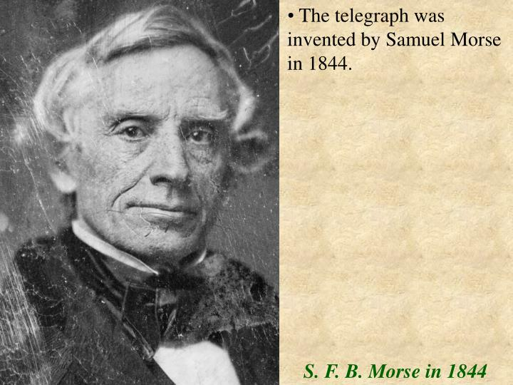in 1844 samuel morse demonstrated the Today in 1844, samuel morse transmitted the first telegraph message, what hath god wrought and was told to delete his account alfred vail & samuel morse first demonstrated morse code in #otd1838, which is why today has been coined learn your name in morse code day.