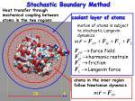 stochastic boundary method