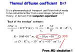 thermal diffusion coefficient d