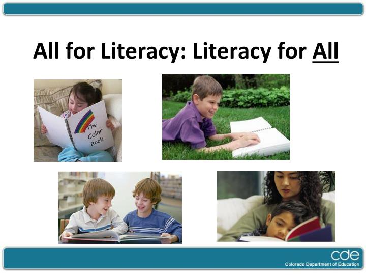 all for literacy literacy for all n.
