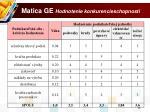 matica ge hodnotenie konkurencieschopnosti