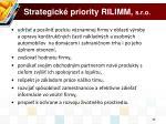 strategick priority rilimm s r o