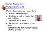 global awareness primary focus 1