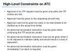 high level constraints on atc