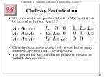 cholesky factorization