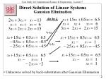direct solution of linear systems gaussian elimination