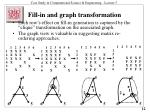 fill in and graph transformation1