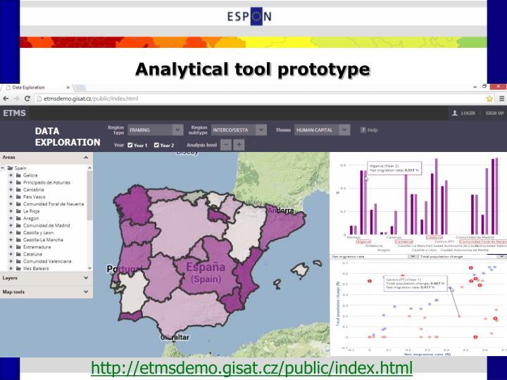 Analytical tool prototype