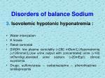 disorders of balance sodium1