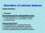 disorders of calcium balance1