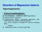 disorders of magnesium balance1