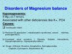 disorders of magnesium balance3