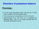 disorders of potassium balance