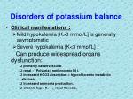 disorders of potassium balance11