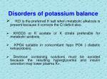 disorders of potassium balance15