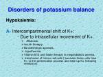 disorders of potassium balance8