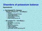 disorders of potassium balance9