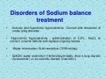 disorders of sodium balance treatment