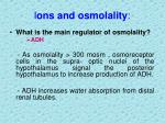 i ons and osmolality