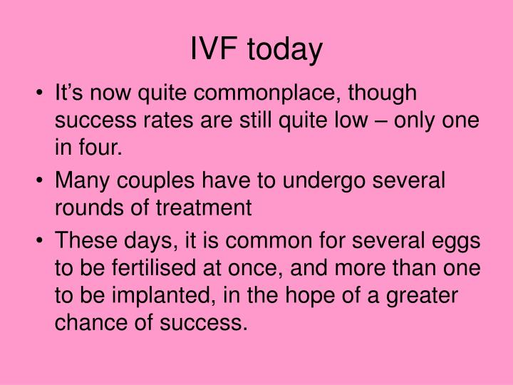IVF today
