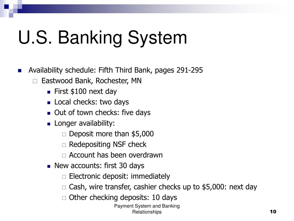 PPT - U S  Banking System PowerPoint Presentation - ID:5708377