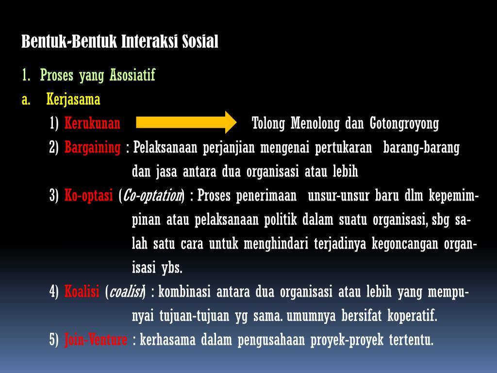 Ppt Bentuk Bentuk Interaksi Sosial Powerpoint Presentation Id