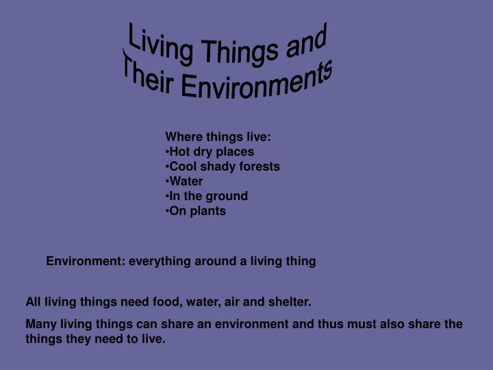 Living Things and