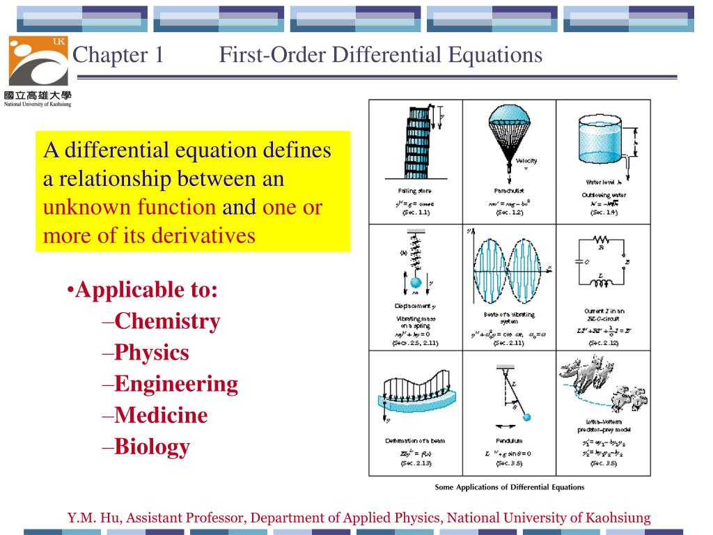 Ppt Chapter 1 First Order Differential Equations Powerpoint Solve This Second Equation For A Rlc Series Circuit Presentation Id5708509