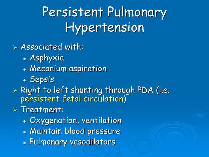 Persistent Pulmonary Hypertension