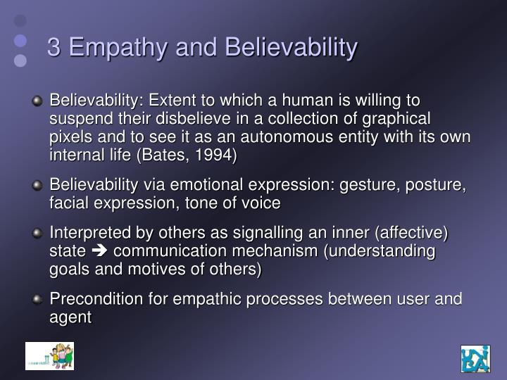 3 Empathy and Believability