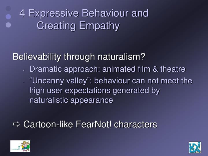 4 Expressive Behaviour and Creating Empathy