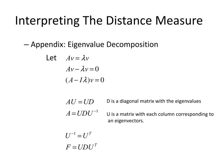Interpreting The Distance Measure