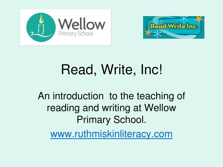 read write inc resources