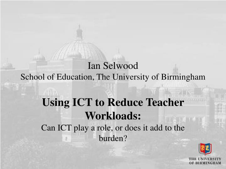 ian selwood school of education the university of birmingham n.