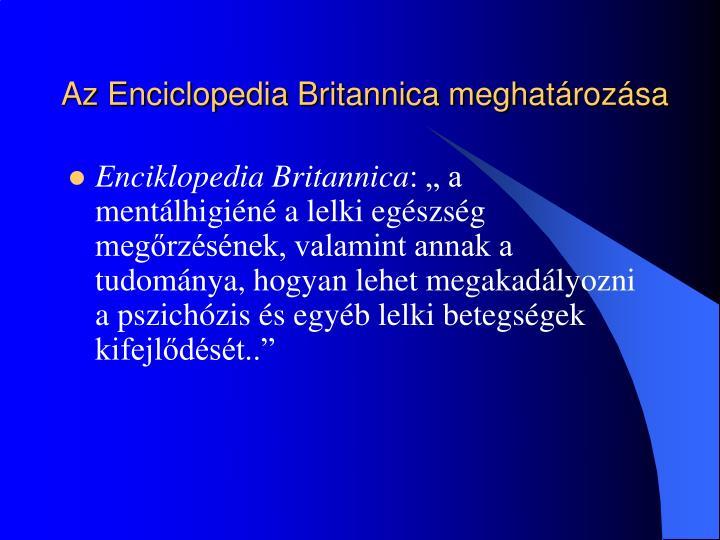 Az Enciclopedia Britannica meghatározása