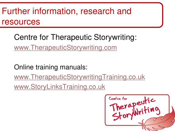 Further information, research and resources