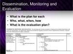 dissemination monitoring and evaluation