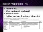teacher preparation tfa