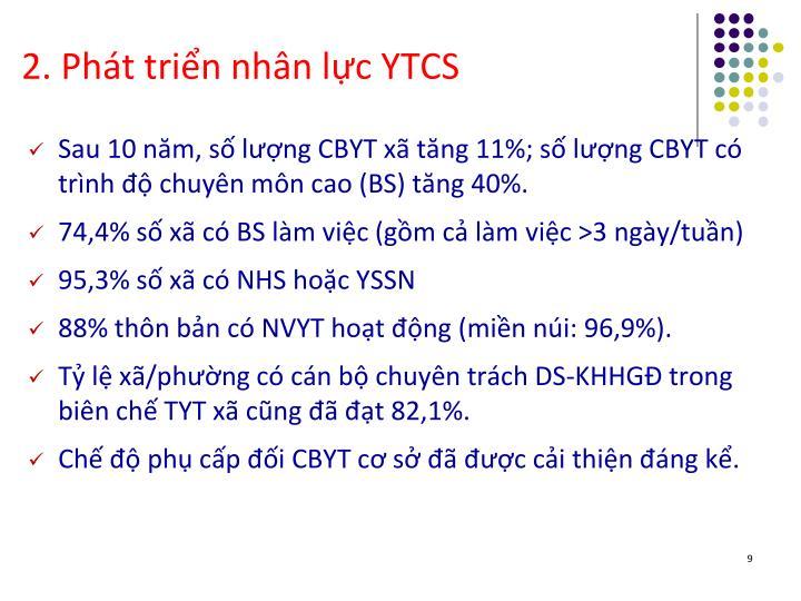 2. Phát triển nhân lực YTCS