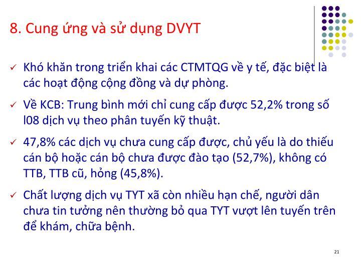 8. Cung ứng và sử dụng DVYT