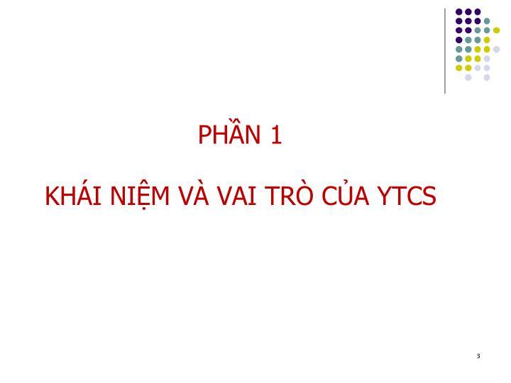 Ph n 1 kh i ni m v vai tr c a ytcs