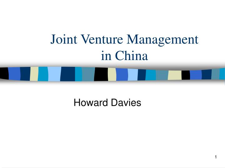 joint venture management in china n.
