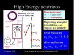 high energy neutrinos