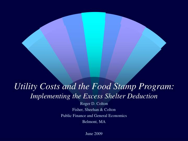 utility costs and the food stamp program implementing the excess shelter deduction n.