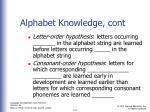 alphabet knowledge cont1